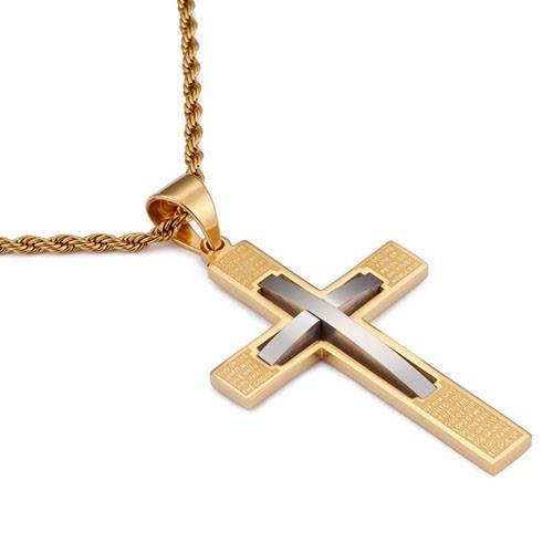 4431d008b84 Kors halskæde - Guld/sølv