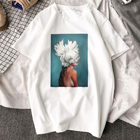 Feather T-shirt / L